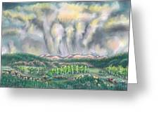 Clouds Over Medicine Bow Peak Greeting Card