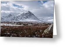 Clouds Over Mountains, Glencoe, Scotland Greeting Card