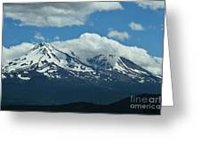 Clouds Over Mt Shasta Greeting Card