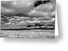 clouds over Nevada desert Greeting Card