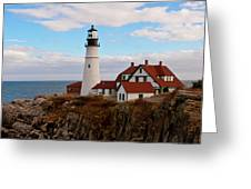 Clouds Over Portland Head Lighthouse 3 Greeting Card