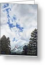 Clouds Over Tahquitz Greeting Card