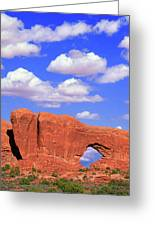 Clouds Over The Arches Greeting Card
