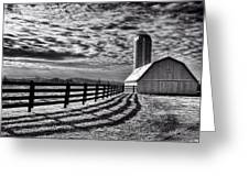 Clouds Over The Farm Greeting Card