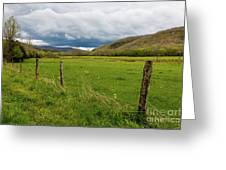 Clouds Over The Hills Greeting Card