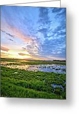 Clouds Over The Marsh 4 Greeting Card