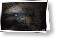 Clouds Over The Moon Greeting Card