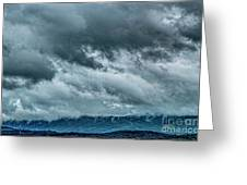 Clouds Over The Mountans 1329tmt Greeting Card