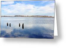 Clouds Over The Mullica River Greeting Card