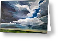 Clouds Over The Prairie Greeting Card