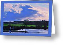 Clouds Over The Shannon, Ireland Greeting Card