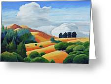 Clouds Over Windy Hill Greeting Card