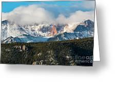 Clouds Receding On Pikes Peak Greeting Card