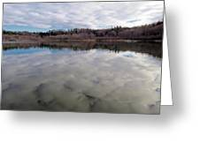 Clouds Reflect Greeting Card