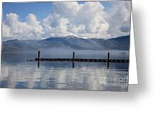 Clouds Reflecting Off Priest Lake Greeting Card