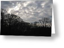 Clouds Roll Over The Sky Greeting Card