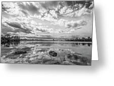 Clouds Touching The Water Greeting Card