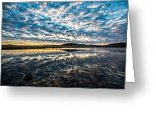Cloudscape - Reflection Of Sky In Wichita Mountains Oklahoma Greeting Card