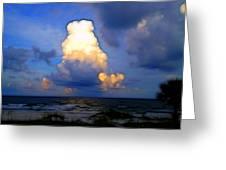 Cloudy Beach Greeting Card