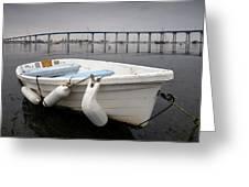 Cloudy Coronado Island Boat Greeting Card