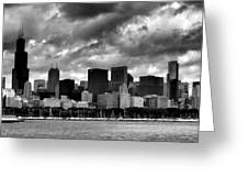 Cloudy Day Chicago - 2 Greeting Card