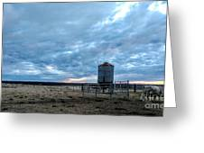 Cloudy Day On The Ranch Greeting Card