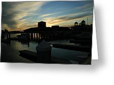 Cloudy Docks Greeting Card
