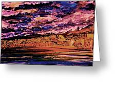 Cloudy In The Evening Greeting Card