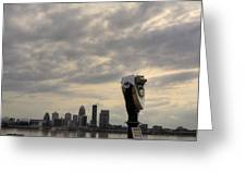 Cloudy Louisville Greeting Card
