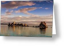 Cloudy Morning At Mono Lake Greeting Card