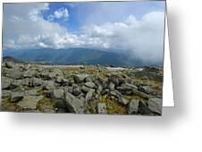 Cloudy Mount Washington Road Greeting Card