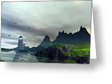 Cloudy Ocean Scene Greeting Card