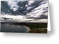 Cloudy Ocean View Greeting Card