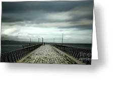 Cloudy Pier Greeting Card