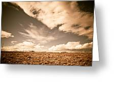 Cloudy Plain Greeting Card
