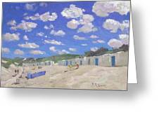 Clouds Above The Sunny Beach Greeting Card