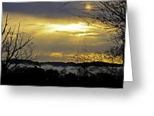 Cloudy Sunrise 1 Greeting Card
