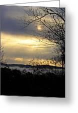 Cloudy Sunrise 2 Greeting Card