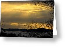 Cloudy Sunrise 3 Greeting Card