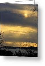 Cloudy Sunrise 4 Greeting Card