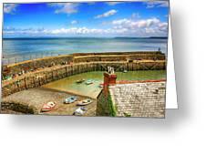 Clovelly Harbor In Devon, Uk Greeting Card