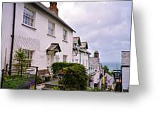 Clovelly Street View Greeting Card