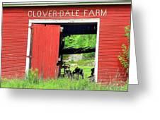Clover Dale Farm Greeting Card