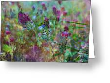 Clover Field Impressions Greeting Card