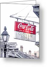 Clover Grill Coke Sign Greeting Card