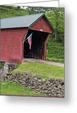 Clover Hollow Covered Bridge 01 Greeting Card