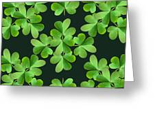 Clover Print Greeting Card