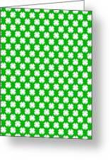 Clover Titled  - Pattern Greeting Card