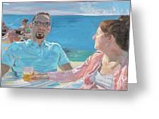 Clovis And Bethany At Tobacco Bay, Bermuda Greeting Card