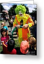 Clown Entertaining Kids Greeting Card